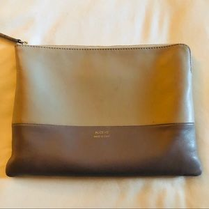 Urban Outfitters two tone leather clutch